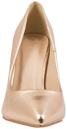 Elara punta tacco | Comodo di Stilettos | Elegante High Heels | chunkyrayan Champagne