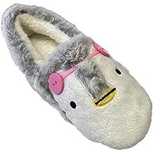 Zapatillas para casa, diseño de perro con gorro de navidad, unisex, cálidas,