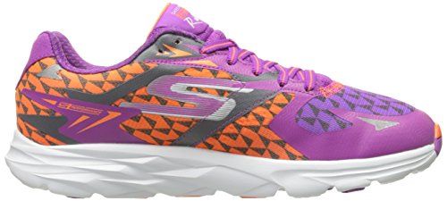 Skechers Damen Go Run Ride 5 Hallenschuhe Purple/Orange
