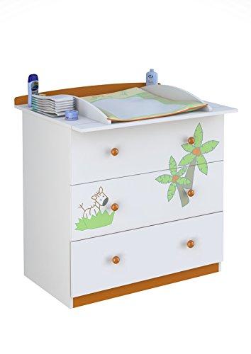 Polini Kids 1187-1 - Cambiador de pañales para bebé, color blanco y naranja