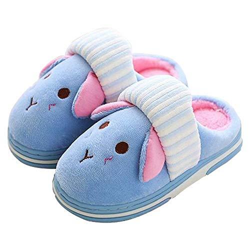 KuaiLu Cute Bunny Slide Slippers/Booties Shoes Fluffy Foam Anti Slip for Boys Girls Little Kids/Toddler