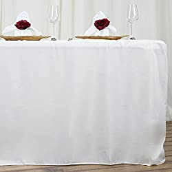 LinenTablecloth 6 ft. Fitted Polyester Tablecloth Ivory
