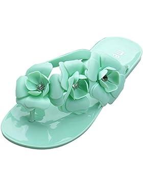 Minetom Donna Camellia Flat Flip Flops Slim Estate Infradito e ciabatte da spiaggia Accessorio Vacanze EUROPE...