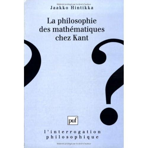 La Philosophie des mathématiques chez Kant