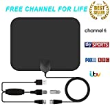 TV Antenna, Indoor HD Digital TV Antenna with 80 Miles Long Range Amplifier