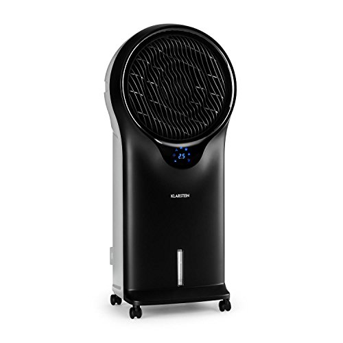 Klarstein Whirlwind 3-en-1 • Rafraîchisseur d'air • Ventilateur • Humidificateur • 3 niveaux de puissance • 3 modes de ventilation • Minuterie • Télécommande • 2x packs de glace • Noir