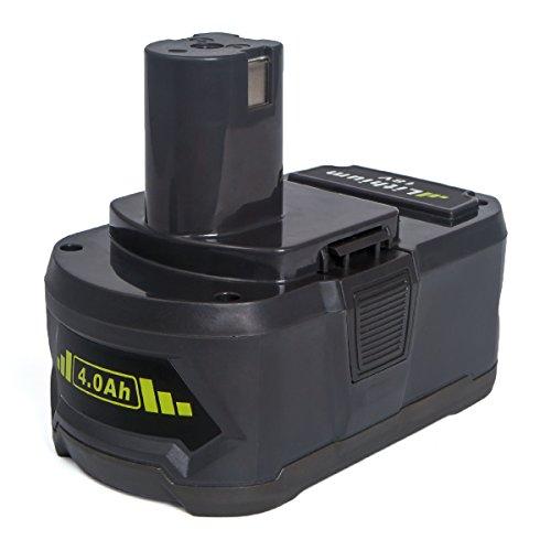 Preisvergleich Produktbild Ryobi P108 Ersatzakku, FLAGPOWER 4.0Ah Werkzeug Akku für Ryobi P108 ONE+ P107 BPL-1815 P122 P104 P105 P102 P103 18V 4000mAh Li-ion Akku mit LED Anzeige + Automatische Leistung Prüfung