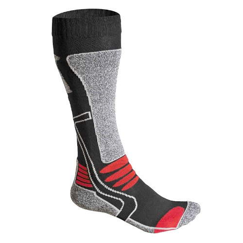 F-lite Feet Motorcycling High Man Socken, mehrfarbig(Schwarz/Rot), 43-46 -