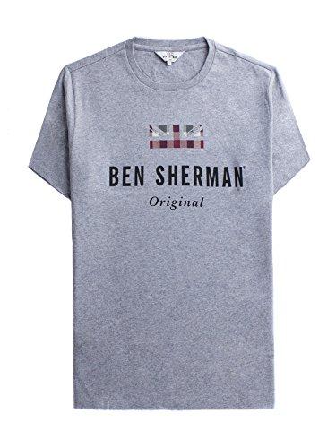 Ben Sherman Herren T-Shirt Original Tee Grau (Grey 250)