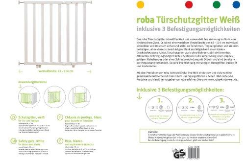 Roba 1510W – Türschutzgitter weiß Verstellbreite  von 63-114 cm, weiß (ohne Tür) - 3