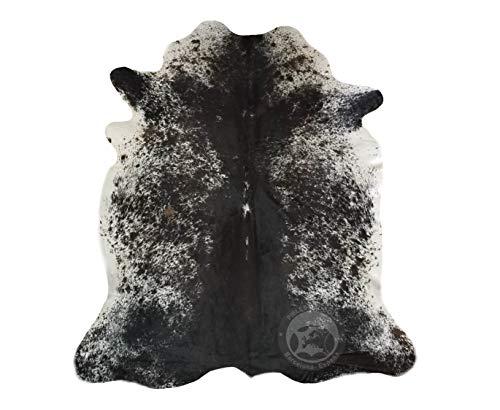 Sunshine Cowhides Teppich aus Kuhfell, Salz und Pfeffer Schwarz und Weiße, Größe Circa 220 x 200 cm, Premium - Qualität von Pieles del Sol aus Spanien
