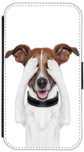 Flip Cover für Apple iPhone 4 / 4s Design 662 Wolf Hülle aus Kunst-Leder Handytasche Etui Schutzhülle Case Wallet Buchflip (662) 649