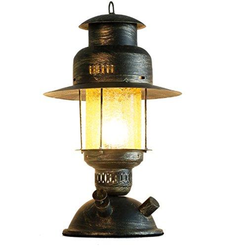 SLH Chinesische Eisen Kunst Studie Schreibtischlampe Schlafzimmer Nacht Inn kreative nostalgische antike Lampe -