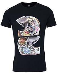 Replay Tee Shirt With Bike Helmet Graphic