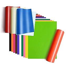 Selbstklebende Vinyl-Blätter, A4, 15 verschiedene Matte, 21 x 30,5 cm, Premium-Permanentklebepapier, für Cameo, Bastel-Ausstecher