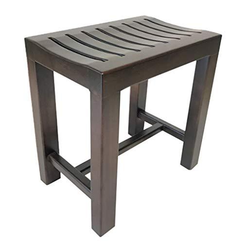 Impermeable Bambú Banco de Ducha/Taburete de Madera para bañera de hidromasaje/Interior y Exterior