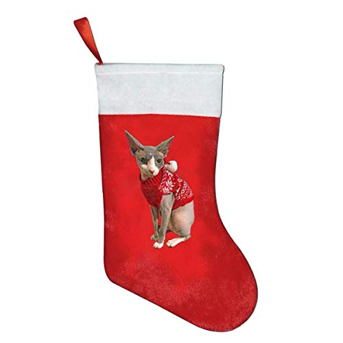 But why miss Sphynx Cat Ugly Sweater Mini Christmas Stocking Santa Claus Socks Gift