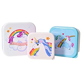Einhorn Brotdosen im 3er Set - Unicorn Vesperdose Brotbox Magie Brotbox