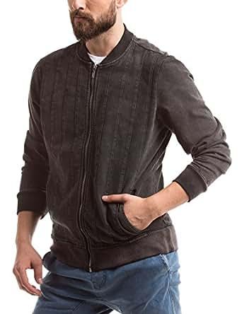 Shuffle Men's Cotton Jacket (8907423021914_2021506802_X-Large_Black)