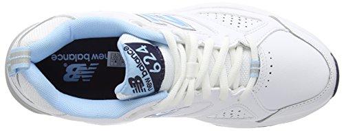 New Balance WX624WB4 - Scarpe Sportive Indoor da Donna Blanco - blanco (White/Blue)