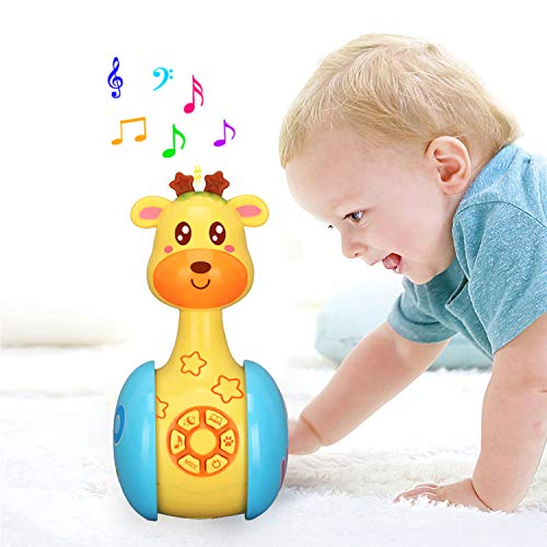 Juguete musical de Tumbler Doll Baby, juguetes Roly-Poly...