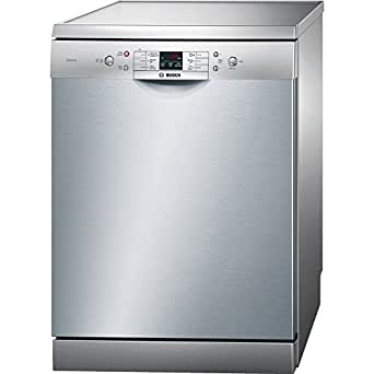 Bosch SMS60L08IN Dishwasher (12 Place Setting, Silver Inox)