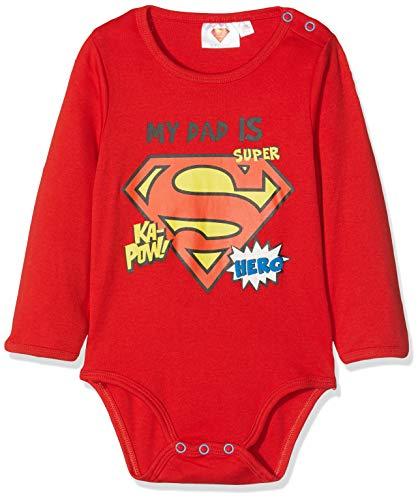 Superman Baby-Jungen 2538 Body, Rot Rouge, 12-18 (Herstellergröße: 18 Monate) (Superman Kostüm 18 12 Monate)