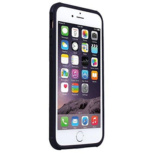 Cover per iPhone 6 Plus / iPhone 6S Plus, VemMore Custodia con Retro Sollievo Creativo Pattern Case in Nero Silicone Soft Morbido TPU Gel Gomma Protezione Caso di Ultra Sottile Durevole Elegante Prote Cranio