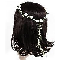 f-eshion fascia Ghirlanda Crown Halo Copricapo Simulazione ghirlanda di fiori per matrimoni