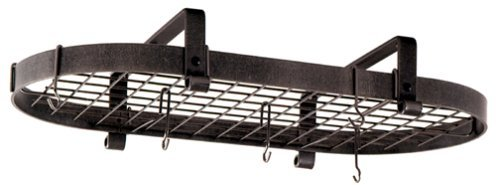 Enclume Oval Pot Rack (Enclume Premier Low-Ceiling Oval Pot Rack, Hammered Steel by Enclume)