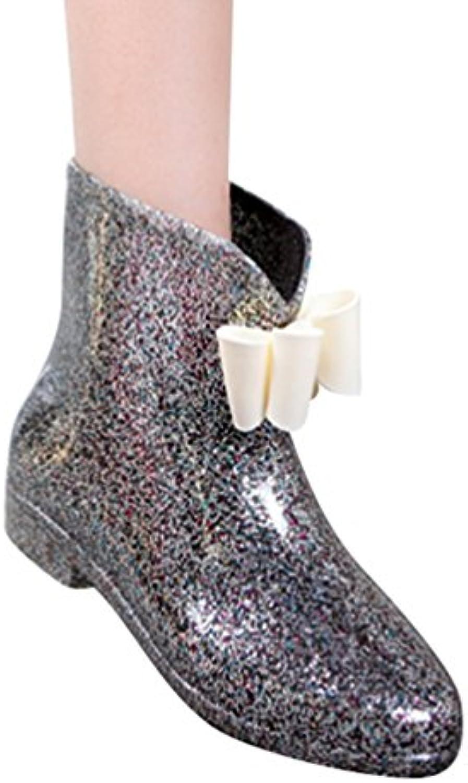 Xinwcang Damen Gummistiefel Kurzschaft Stiefel Fashionable Landfor Gartenstiefel Kurz Stiefel Fliege Rain Boot