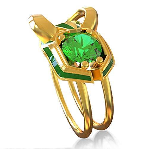 Kostüm Für Erwachsene Loki - Wellgift Loki Ring Cosplay Kostüm Erwachsene Helm Muster Herren Schmuck Geschenk Zink Legierung Ring Fancy Dress Merchandise Zubehör