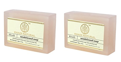 Khadi Sandalwood Soap, 125g (Pack of 2)