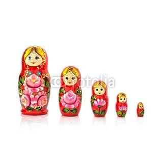 adrium Set of five matryoshka russian nesting dolls(75545266), Canvas, 120 x 80 cm