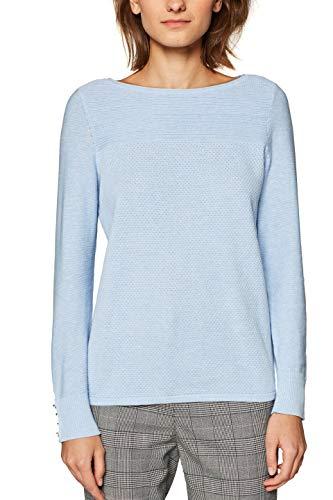 Esprit 029ee1i001, Pull Femme, Bleu (Light Blue 5 444), XX-Larg