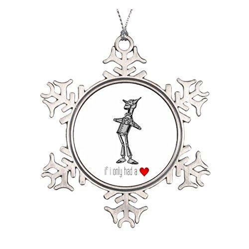 Woodsman If I only HAD A Heart Runde Keramik Weihnachten Ornament ()