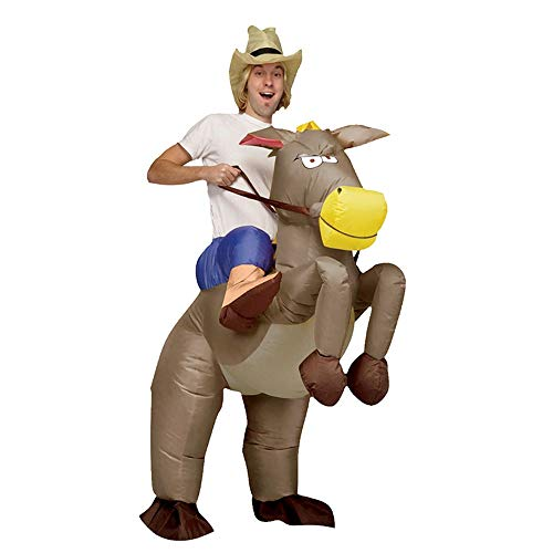 SUNREEK Aufblasbares Pferd Kostüm, aufblasbare Kostüme für Erwachsene, Kostüm Cosplay Outfit Overall für Halloween Aufblas Kostüm (Pferd-Erwachsener)