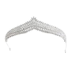 SEPBRIDALS S16239T1 Diadem für Damen, Mädchen, mit Zirkonia, für Hochzeiten, Brautschmuck