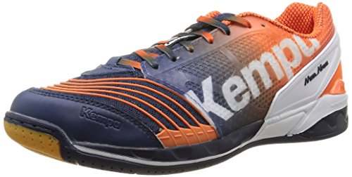 Kempa Attack One, Chaussures de Handball homme Bleu (Marine/Orange/Blanc)