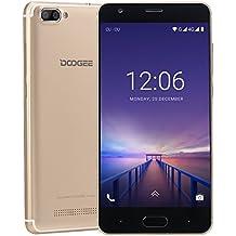Cellulari In Offerta, DOOGEE X20L Smartphone 4G Dual SIM Android 7.0 Telefonia Mobile, 5 Pollici HD IPS, 2GB RAM 16GB ROM, Processore Quad Core, Fotocamera Posteriore da 5 + 5 MP - Oro