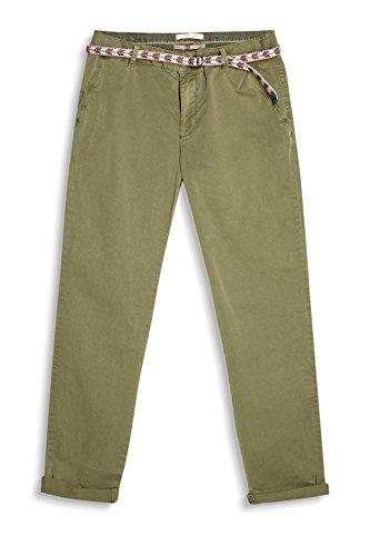 ESPRIT 037EE1B002, Pantaloni con cinta Donna Verde (Light Khaki)