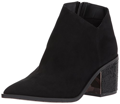 Kenneth Cole REACTION Damen Cue The Music, Stiefelette, Kerbe, Western-Stil, Micro, schwarz, 37.5 EU -