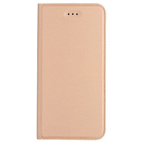 JIALUN-Telefon Fall Normallack Synthetik Leder Telefon Fall, Magnetverschluss Bookstyle Folio Stand Case mit Card Slot für iPhone 6 & 6s ( Color : Blue ) Gold