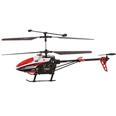 Flying Gadgets T41C 3 Channel Remote Control (RC) Helicopter with HD Camera Installed - Red & Black