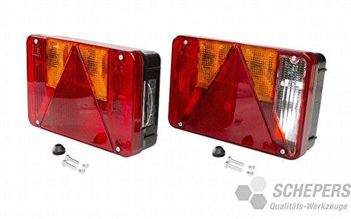 Radex 5800 Rückleuchten- Set für Anhänger Trailer Rechts u. Links Rücklicht