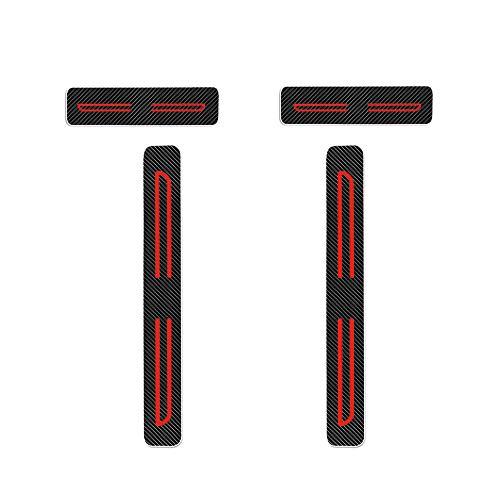 Preisvergleich Produktbild Einstiegsleiste Schutz Aufkleber Reflektierende Lackschutzfolie für Mazda2 Mazda3 Mazda6 CX-3 CX-5 CX-7 CX-9 MX-5 Einstiegsleisten Rot 4 Stück