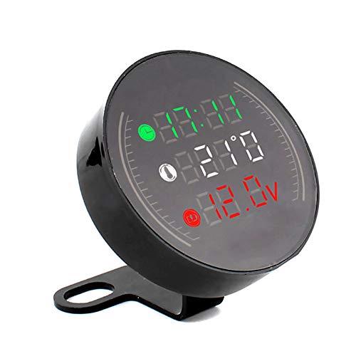 MiaLian 1 pz Moto Digitale LED Orologio Temperatura voltaggio termometro 3 in 1 Combo