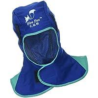 Blesiya Casco Safey Retardante A La Llama Capa Protectora Para El Cuello De Soldadura - Azul