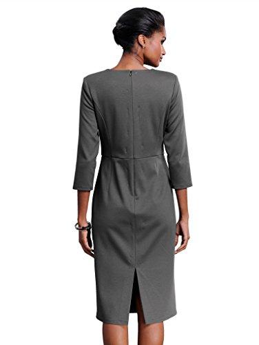 Alba Moda Damen Kleid Anthrazit 44