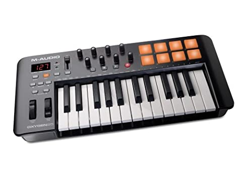M-Audio Oxygen 25 IV USB Keyboard und Pad MIDI Controller mit anschlagdynamischen Tasten (Ableton Live Lite, SONiVOX Twist, Xpand2)